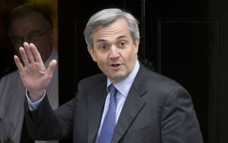 Huhne, shortly after being hit by a falling acorn